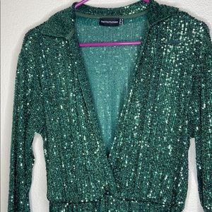 Green Sequin Jumpsuit worn once!